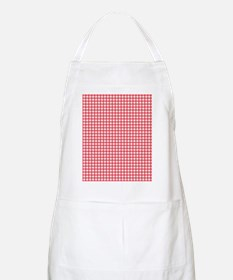 red and white gingham plaid pattern Apron