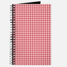 red and white gingham plaid pattern Journal