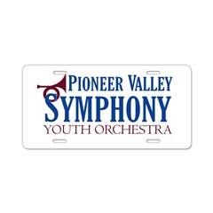 Youth Orchestra Aluminum License Plate