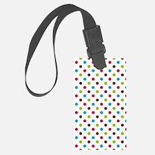 colorful chic polka dot pattern Luggage Tag