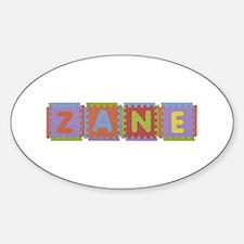 Zane Foam Squares Oval Decal
