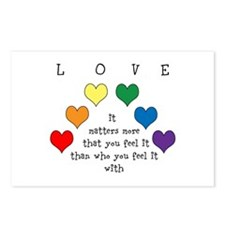 Rainbow Love Postcards (Package of 8)