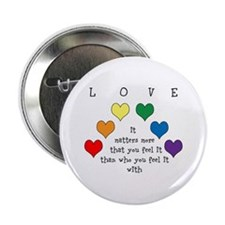 "Rainbow Love 2.25"" Button"