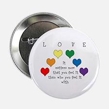 "Rainbow Love 2.25"" Button (10 pack)"