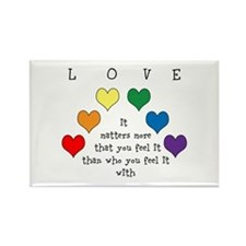 Rainbow Love Rectangle Magnet