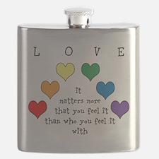 Rainbow Love Flask