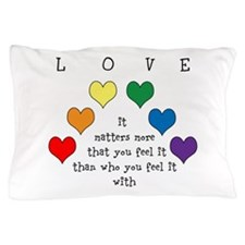 Rainbow Love Pillow Case