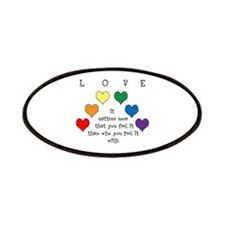 Rainbow Love Patches