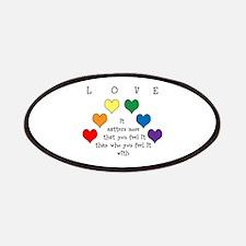 Rainbow Love Patches