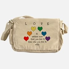 Rainbow Love Messenger Bag