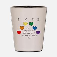 Rainbow Love Shot Glass