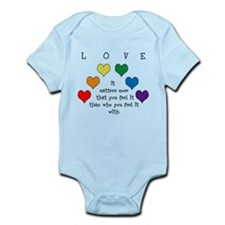 Rainbow Love Infant Bodysuit