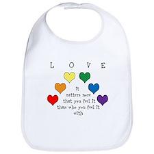Rainbow Love Bib