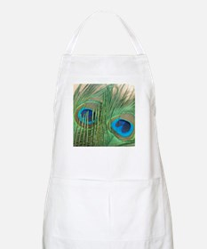 Golden Peacock Feathers Apron
