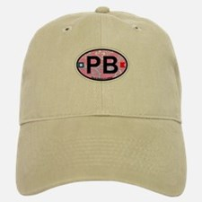 Palm Beach - Oval Design. Baseball Baseball Cap