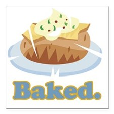 "baked potato Square Car Magnet 3"" x 3"""