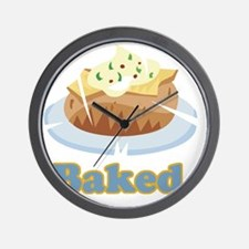 baked potato Wall Clock