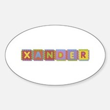 Xander Foam Squares Oval Decal