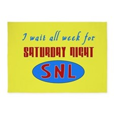 Waiting All Week for SNL 5'x7'Area Rug