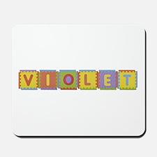 Violet Foam Squares Mousepad