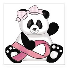 """cute breast cancer pink  Square Car Magnet 3"""" x 3"""""""