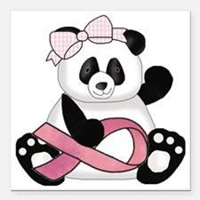 "cute breast cancer pink  Square Car Magnet 3"" x 3"""