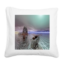 Dragonfly Ocean Square Canvas Pillow