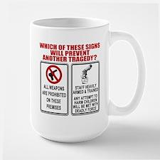 Gun Control Large Mug