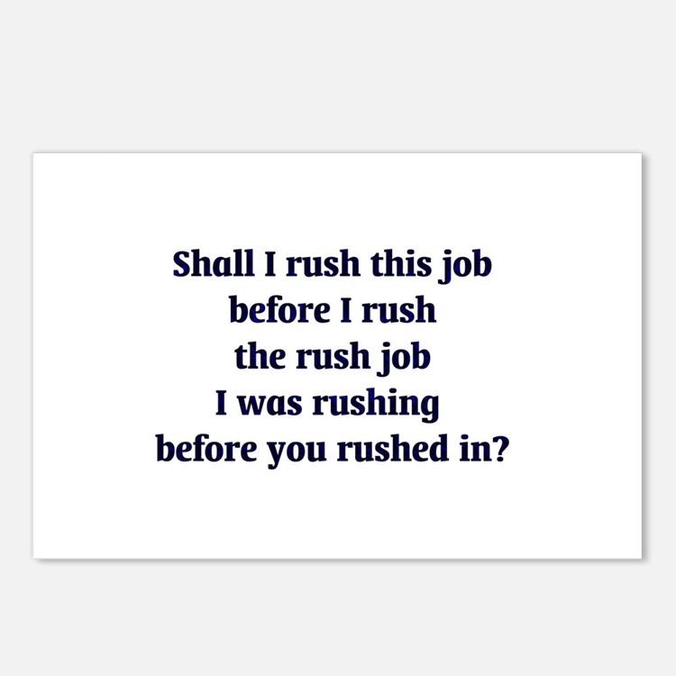 Rush Job Postcards (Package of 8)