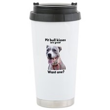 Pit Bull Kisses Travel Mug