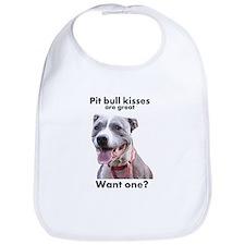 Pit Bull Kisses Bib
