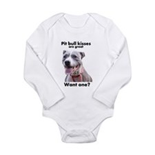 Pit Bull Kisses Long Sleeve Infant Bodysuit