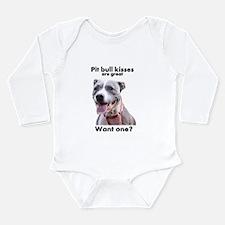 Pit Bull Kisses Long Sleeve Infant Bodysuit