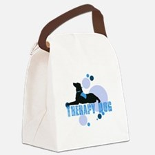 therapbluedogs2.png Canvas Lunch Bag