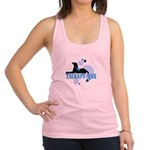 therapbluedogs2.png Racerback Tank Top