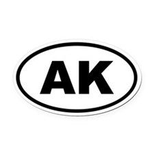 Alaska AK Oval Car Magnet