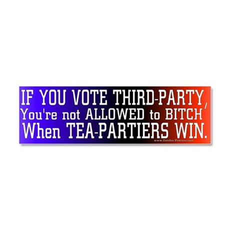 Third party candidates Car Magnet 10 x 3