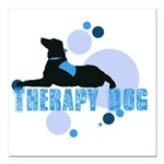 therapbluedogs2.png Square Car Magnet 3