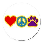 therapbluedogs2.png Round Car Magnet