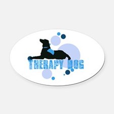 therapbluedogs2.png Oval Car Magnet