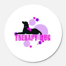 therappinkdots2.png Round Car Magnet