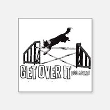 "bcjump_getoverit.png Square Sticker 3"" x 3"""