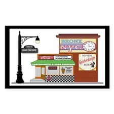 Bronx Soda Shop Rectangle Decal