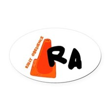 rawhite.png Oval Car Magnet