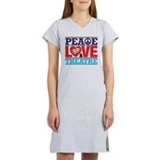 Peace Love and Theatre Women's Nightshirt