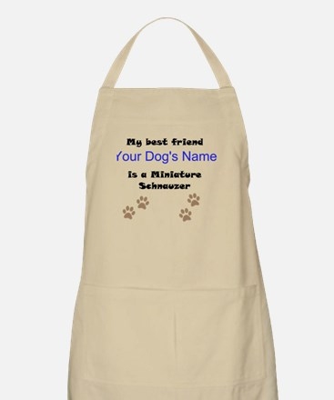 Custom Miniature Schnauzer Best Friend Apron