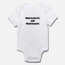 Made in the U.S. with Mexican Parts Infant Bodysui