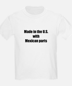Made in the U.S. with Mexican Parts Kids T-Shirt