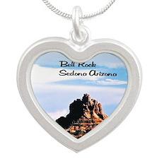 Bell Rock Sedona  Silver Heart Necklace