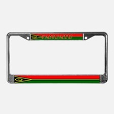 Vanuatu Blank Flag License Plate Frame